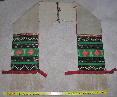 Nice! Old Hopi Pueblo Indian Woven Sash Germantown Used early 1900's