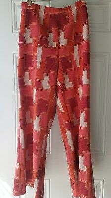 Vintage 1960s 1970s Plaid Bell Bottom Flare  Pants authentic retro Halloween