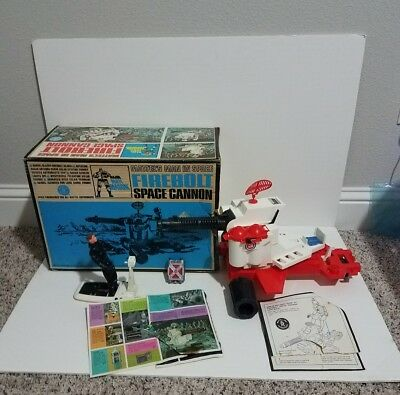 1966 Mattel Man In Space LOT Space Cannon Sled Major Matt Mason Box Paperwork
