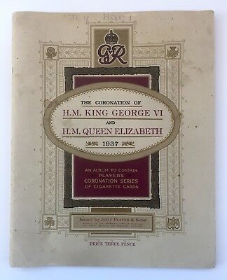 The Coronation of King George VI 1937 Player's Cigarette Card Album Complete Set