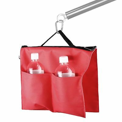 Red Nylon Studio Softbox Water Bag with 4 Outer Pouches for Panel Boom Arm Bar
