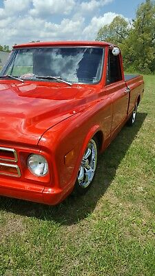 1968 Chevrolet C-10 2DR 1968 CHEVROLET C10 RED LOWERED HEAD TURNER