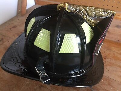 2001 Brand New Cairns Houston N6A Medium Leather Fire Helmet not N5A New Yorker