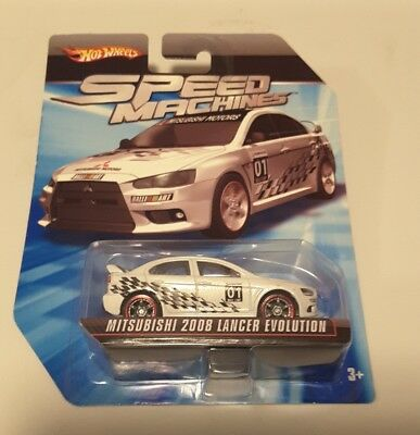 hot wheels 2010 speed machines mitsubishi 2008 lancer evolution MINT CONDITION