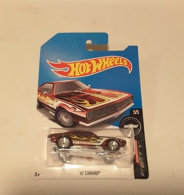 hot wheels 2017 super treasure hunt 67 camaro   MINT condition