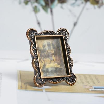 New Mini Retro Photo Frame For 1:12 Miniature Dollhouse Bedroom Decor Gift DIY