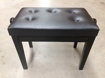 Crown Standard Tufted Height Adjustable Piano Stool (Black) - Damaged stock