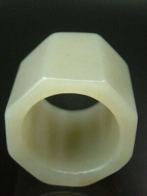 Antique Chinese Celadon Nephrite  ADE-Archer's Hollowe Thumb Rings 1
