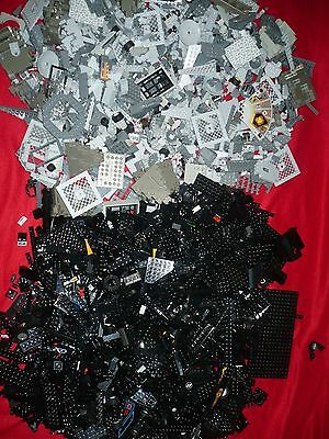 Lot of 11 lbs  LEGO blocks sorted Gray & Black Various sizes -Star wars Harry P