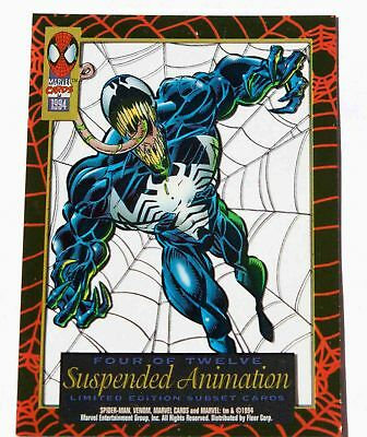 VENOM 1994 Spider-Man Suspended Animation Limited Edition Subset # 4 of 12 FLEER