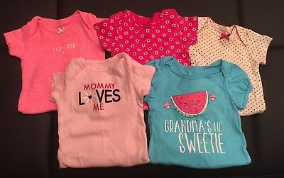 baby girl clothes 3-6 months, Lot Of 5 Bodysuits