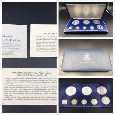 Republic of the Philippines Proof Set Minted at the Franklin Mint 1975