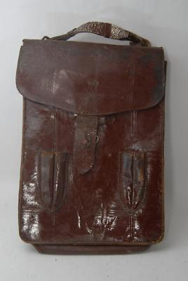 WW2 Vintage Original Japanese Army Officer's Leather map Case  #a6451
