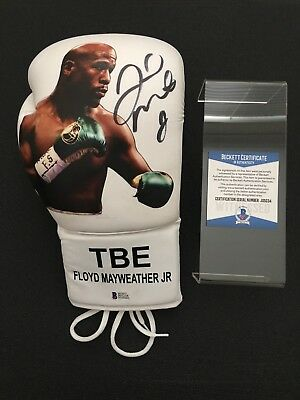 Floyd Mayweather Signed Picture Glove