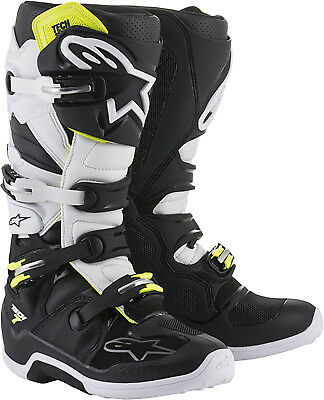 Alpinestars Tech 7 Boots Red Black/White MX Off-road All Sizes