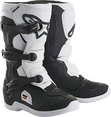Alpinestars Tech 3S Boots Black/White Youth & Adults All Sizes
