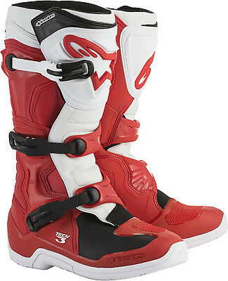Alpinestars Tech 3 Boots Red/White MX Off-road All Sizes