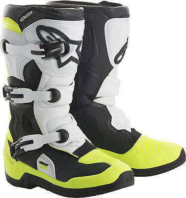 Alpinestars Tech 3S Boots Black/White/Yellow Youth & Adults All Sizes