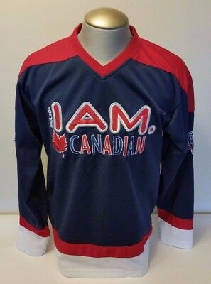 Molson I Am Canadian Beer Hockey Style Jersey Pull Over Medium Brewery