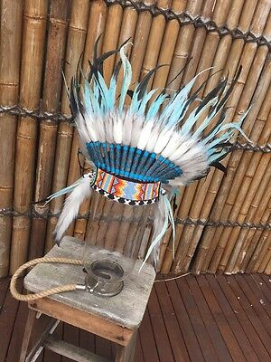 Indian Headdress Feather/war Bonnet Deluxe..Costume Party Dress Up