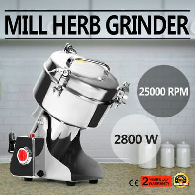 Electric Herb Grain Grinder Cereal Mill Flour Coffee Wheat 2800W Machine 1000g