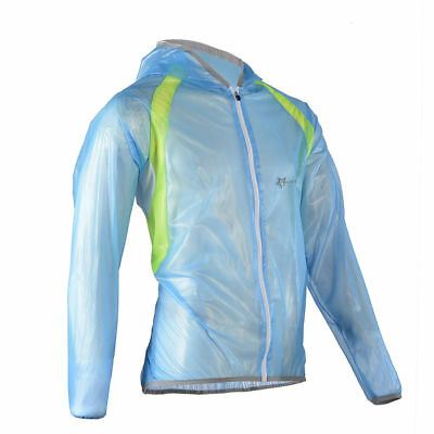 RockBros Bike Cycling Jacket Jersey Waterproof Windproof Windcoat Raincoat Blue