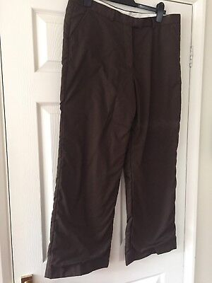Glenmuir Ladies Brown Golfing Trousers. Lined. Size 16R