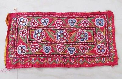 Vintage Embroidered Mirror Work Wall Decorated Banjara Wall Hanging
