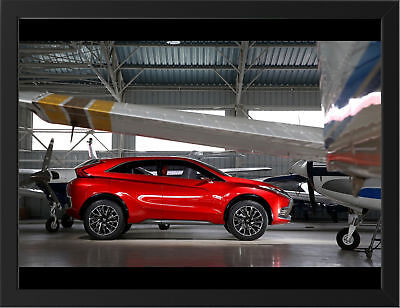 """RED MITSUBISHI XR PHEV CONCEPT A3 FRAMED PHOTOGRAPHIC PRINT 15.7""""x11.8"""""""