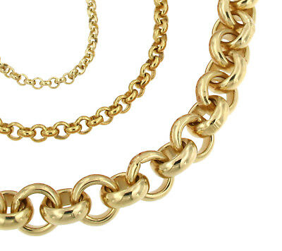 BELCHER Chain Necklace Gold Doublé or Plated Men Women Gift Jewellery From ITALY
