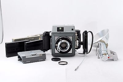 Mamiya Press 90mm f/3.5 w/6x7 Roll Film Holder Back [Excellent] from JAPAN