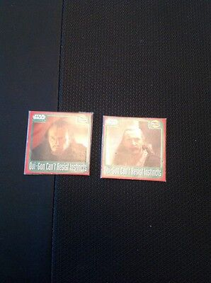 A1-1 Walkers Trade Card Star Wars Episode One 1 Scratch Card Qui Gon X 2 Sealed