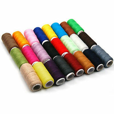 24 Rolls Spools  Finest Quality Sewing Cotton Thread Assorted Colour All Purpose