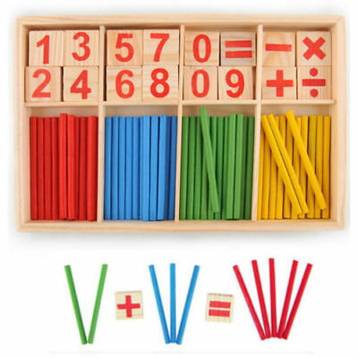 Baby Wooden Educational Toy  Numbers Mathematics Early Learning Counting