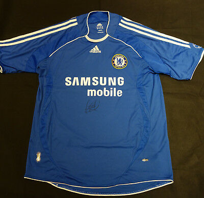 Frank Lampard Hand Signed Chelsea Football Club Shirt with COA
