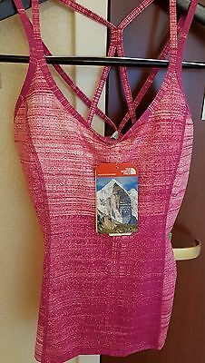 The North Face Womens Empower Tank Top CH3W Fuchsia Pink Size Small Yoga