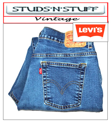 """Vintage Levis 512's Slim Tapered  Fit Jeans W34"""" L26"""" Aprox Size Uk 14 (T100)"""