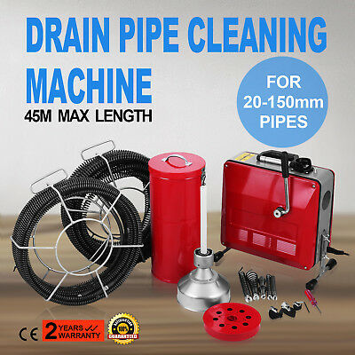 20-150mm Ø Pipe Drain Cleaner Machine 45m Max Length Commercial Convenient