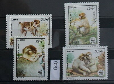 S0 0040 WWF Animals Algerie MNH 1988 Monkeys