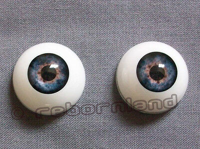 Half Round Reborn Doll Optical Acrylic Eyes -Dark Blue- 16, 18Mm, 20Mm, 22Mm