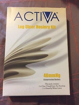 Activa Leg Ulcer Hosiery Kit 40mmHg Compression Hosiery XL Sand/white