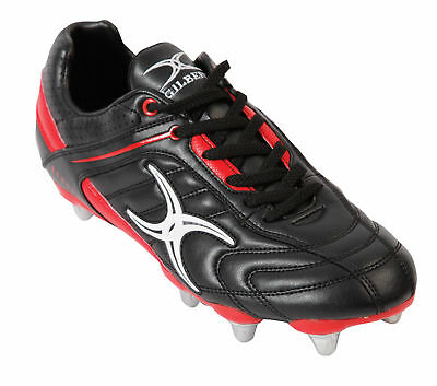Clearance Line New Gilbert Rugby Sidestep Barbarian Hard Toe Black/ Red Size 4