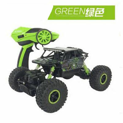 Green 2.4Ghz Remote control RC Rock Crawler 4WD Car Truck Off-Road Vehicle Toy