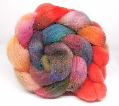 Dorset Horn Hand Dyed Combed Wool Top 100g DH17 Felting Spinning
