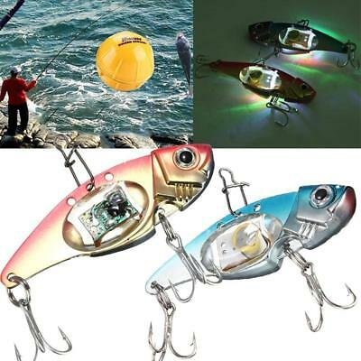 New Fishing Crank Lures Bait Deepwater Salmon Pike Bass with Flashing LED Light