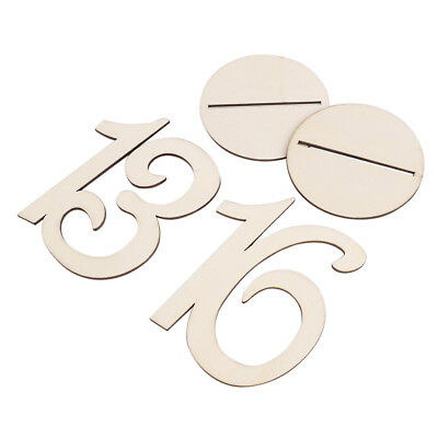 FP Wedding table Wooden number with base 10 x 10cm 11-20 wood color