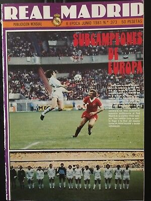 Liverpool,1- Real madrid,0.Final. 1980-81 European cup. magazine,programme
