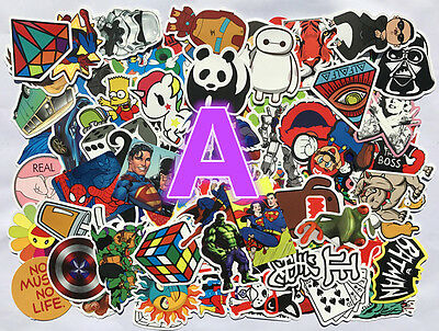 100PCS Sticker Bomb Decal Vinyl Roll for Car Skate Skateboard Laptop Luggage NW