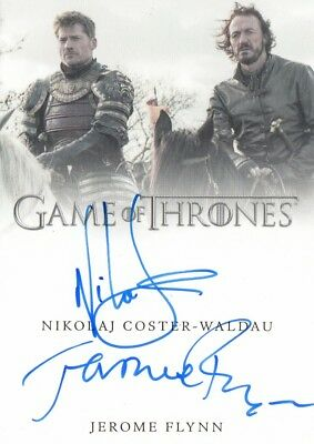 Game Of Thrones Valyrian Steel - Coster-Waldau And Flynn Dual Autograph Card Vl