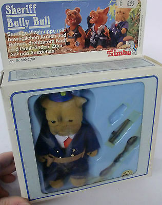 Bear Family Sheriff Bully Bull Simba Toy Vintage 1983 Figur Sammler RAR MIB OVP
